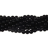 "GM-0142 - 4mm Onyx Round Gemstone Bead Strand | 16"" Str"
