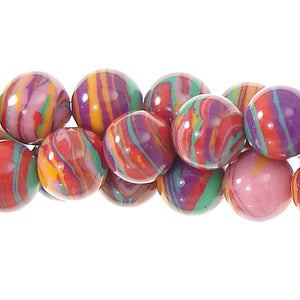 "GM-0124 - 8mm Pink Synthetic Calsilica Gemstone Bead Strand | 16"" Str"