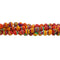 "GM-0130 - 4mm Pink Synthetic Calsilica Gemstone Bead Strand | 16"" Str"