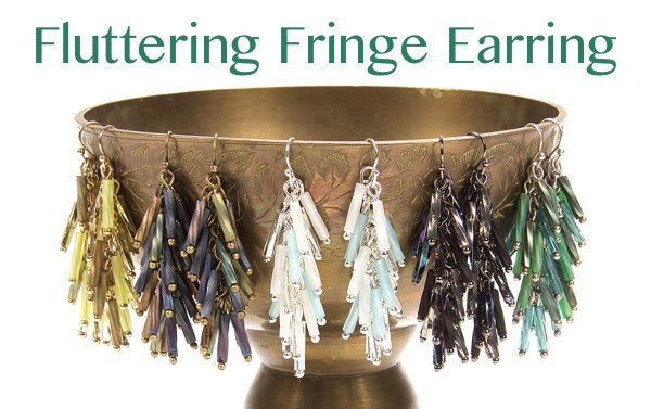 #PDF-543 - Fluttering Fringe Earrings