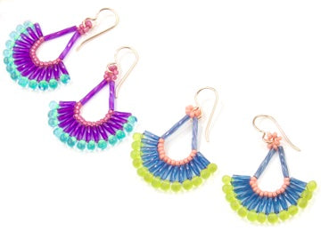 #PDF-265 - Tropical Waves Earrings Project