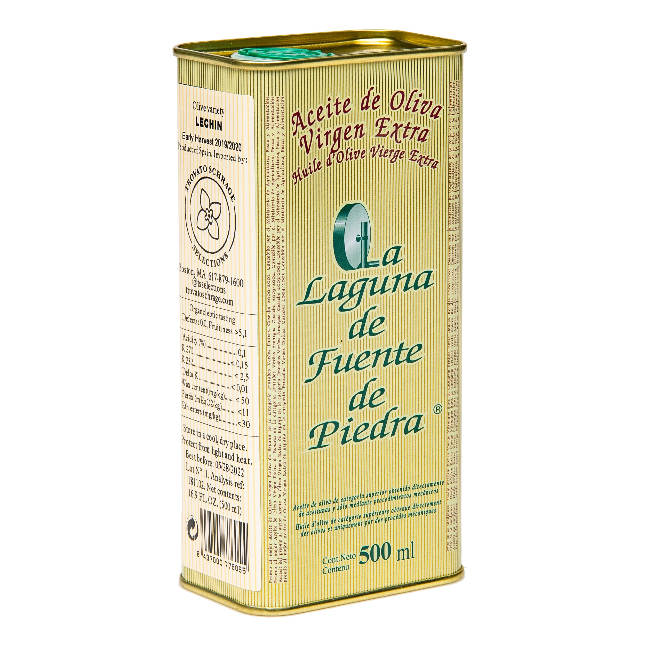Gordalilla Extra Virgin Olive Oil 500ml