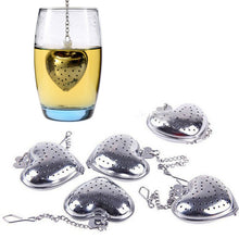 Load image into Gallery viewer, Heart Shaped Tea Strainer Stainless Steel