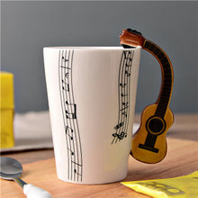 Load image into Gallery viewer, Novelty Guitar Ceramic Cup