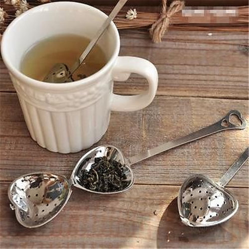 New Stainless Steel Spoon Tea Strainer