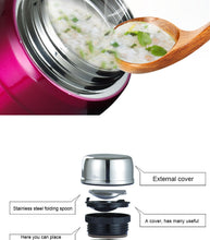 Load image into Gallery viewer, Thermos with Spoon Stainless Steel