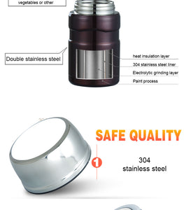 Thermos with Spoon Stainless Steel