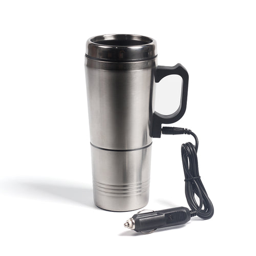 Portable Silver Stainless Steel Coffee Maker