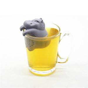 Hippo Shaped Silicone Reusable Tea Strainer