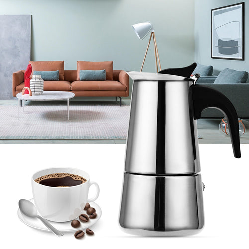 Stainless Steel Moka Coffee Maker