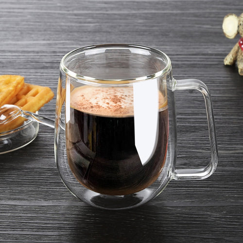 Transparent Drinkware Double Glass Cup