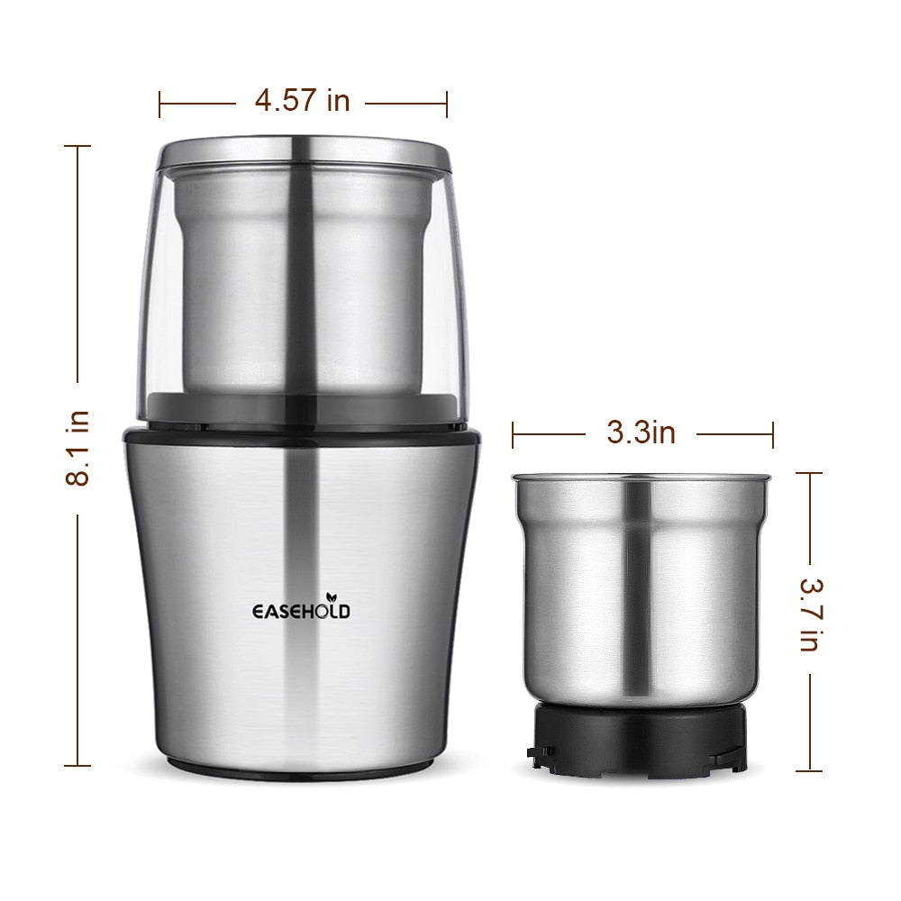 Electric Coffee Grinder Stainless Steel Body