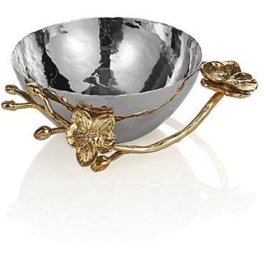 Golden orchid nut bowl