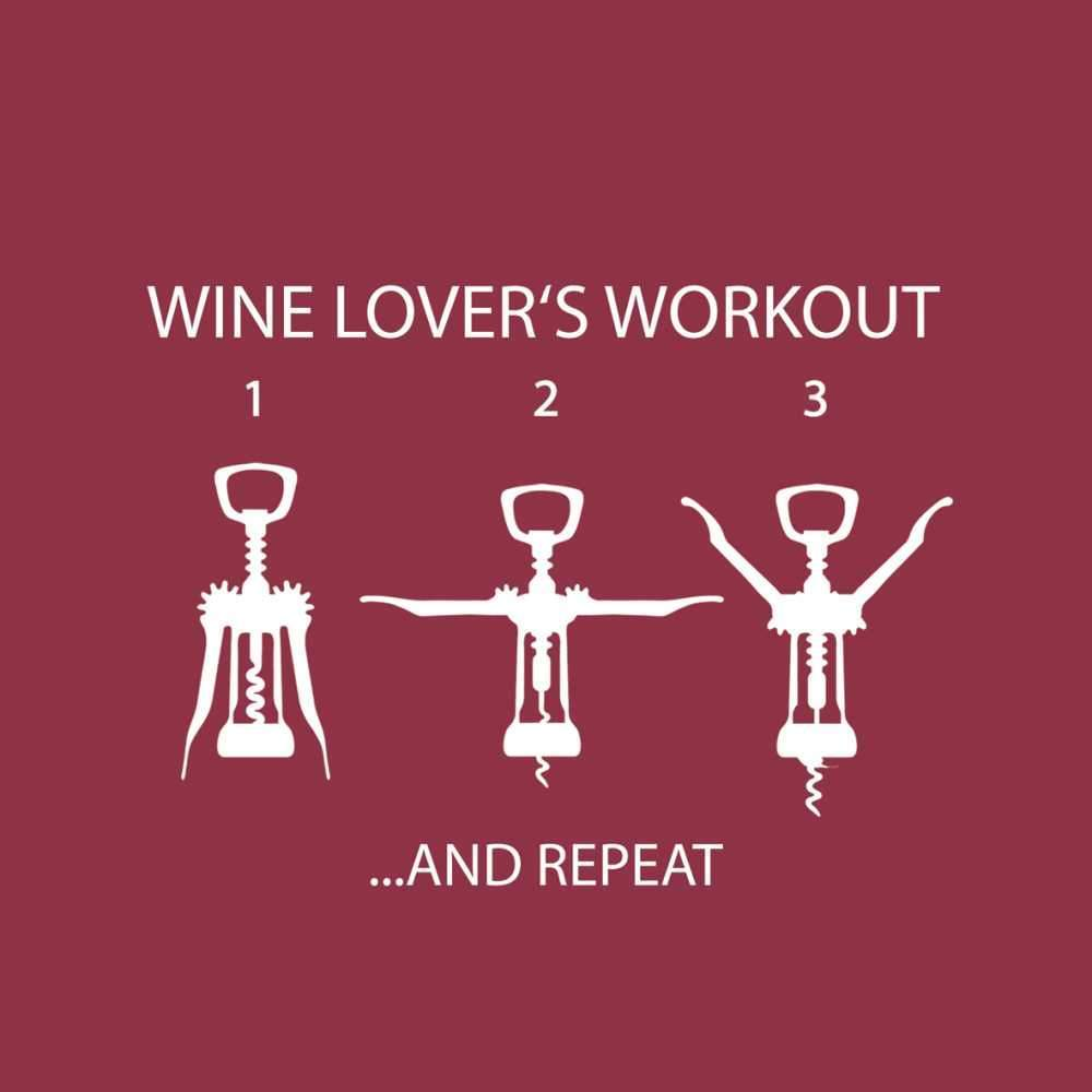 Wine Lover's Workout Beverage Napkins