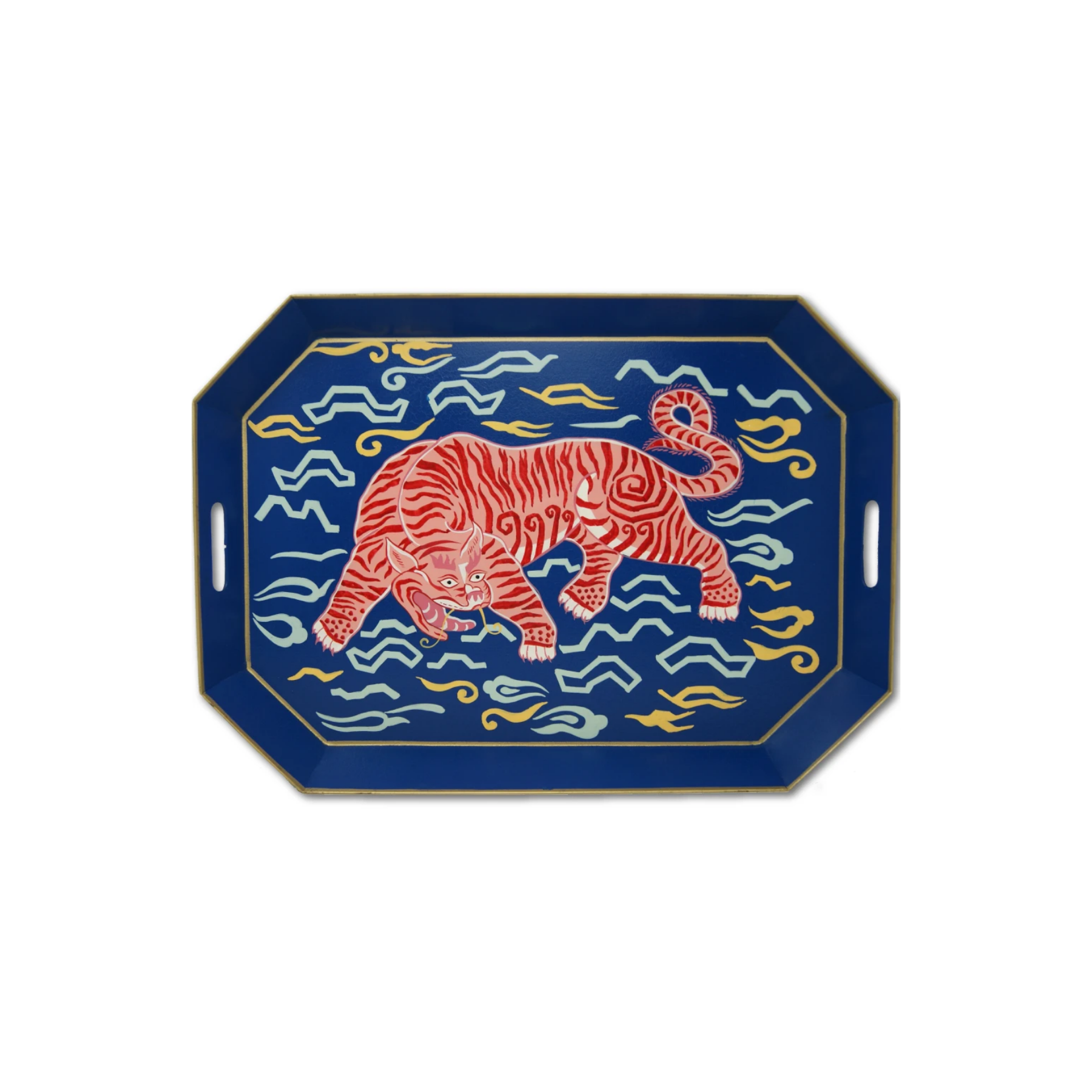 Navy Tibetan Tiger Tray
