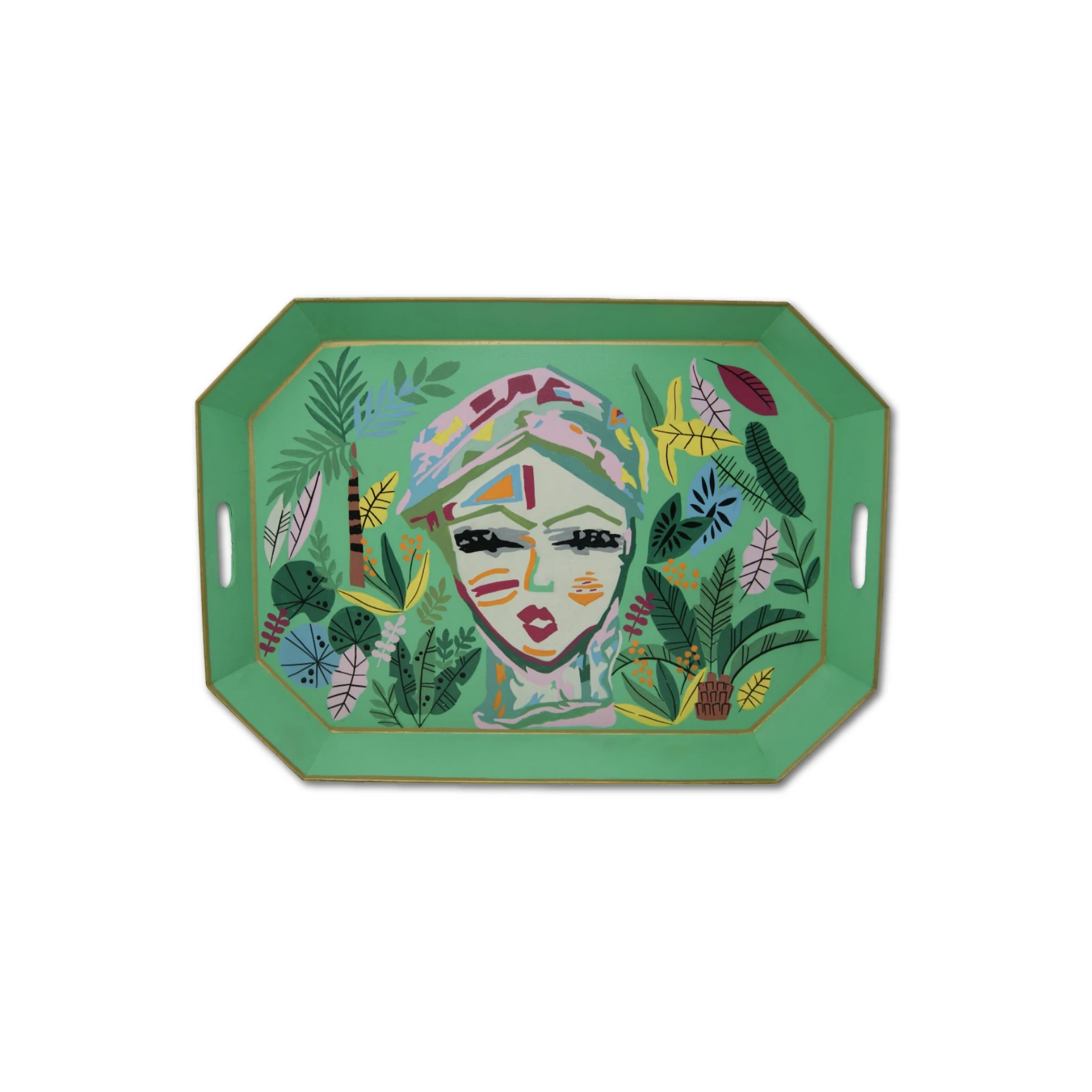 Lady in the Jungle Tray