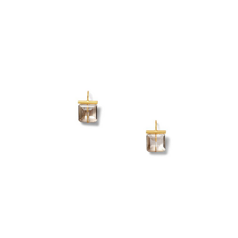 Princess Smokey Q - Citrine Earring