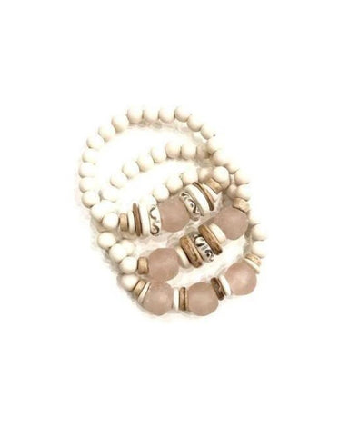 Trio Stack Bracelets Blush