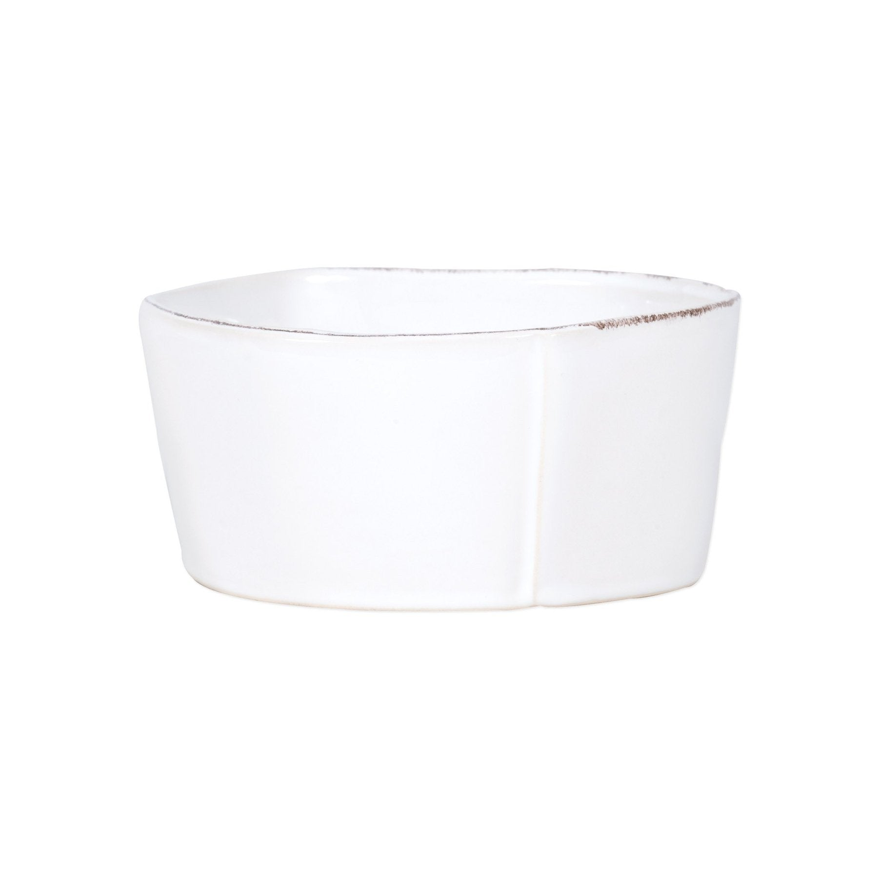 Lastra White Serving Bowl- Md