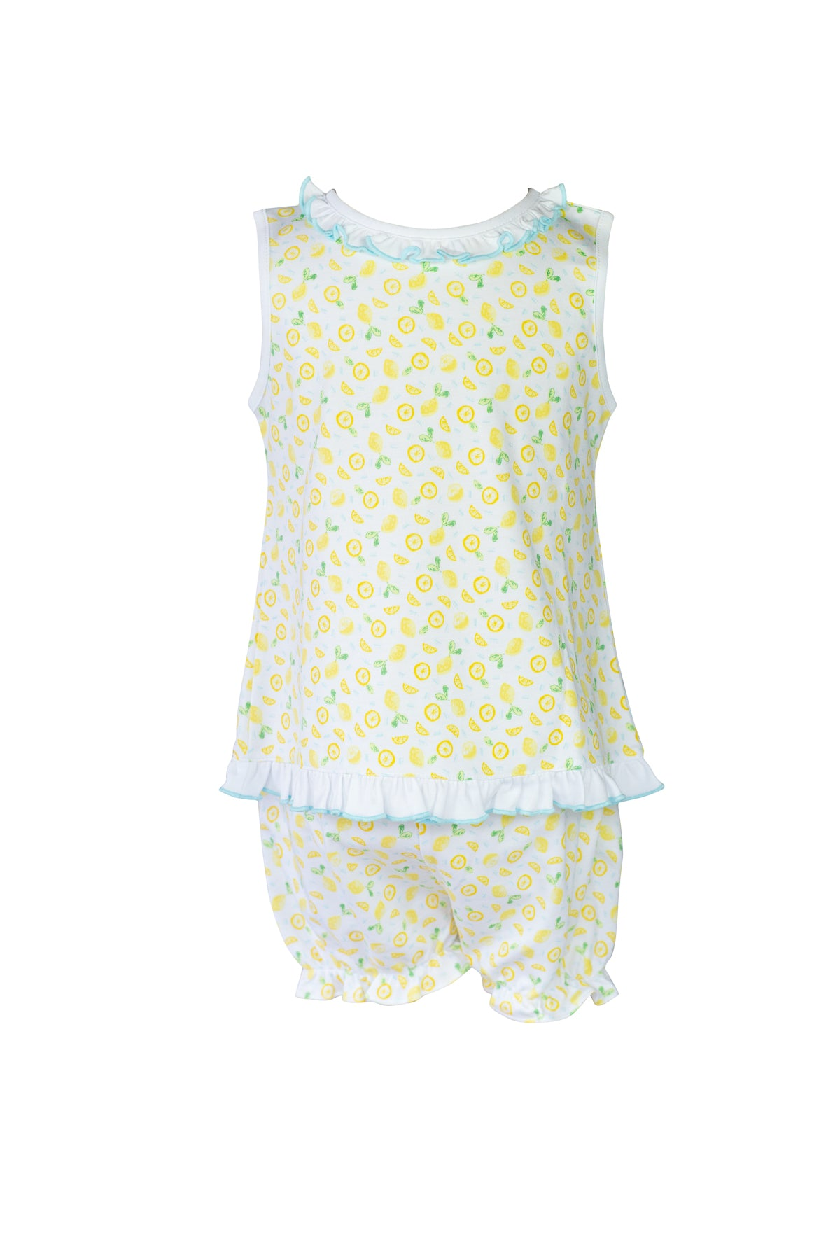 Lemons Girl Ruffle Bloomer Set