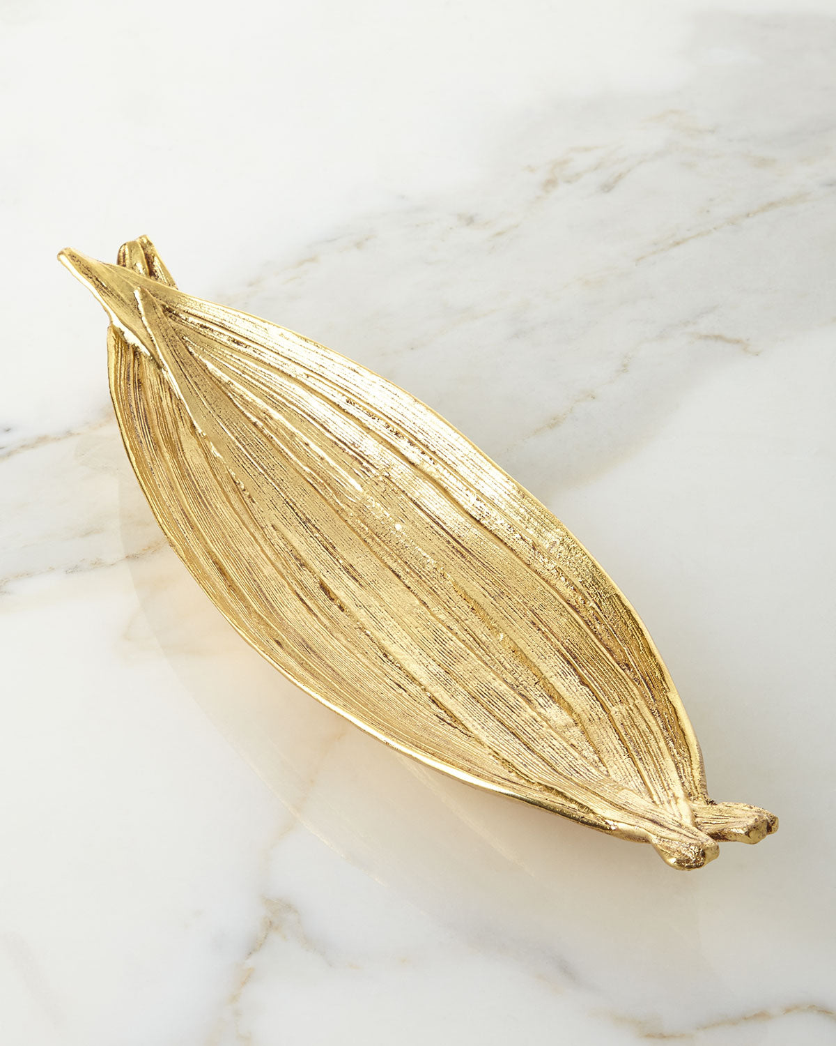 Palm Cracker Plate, Gold