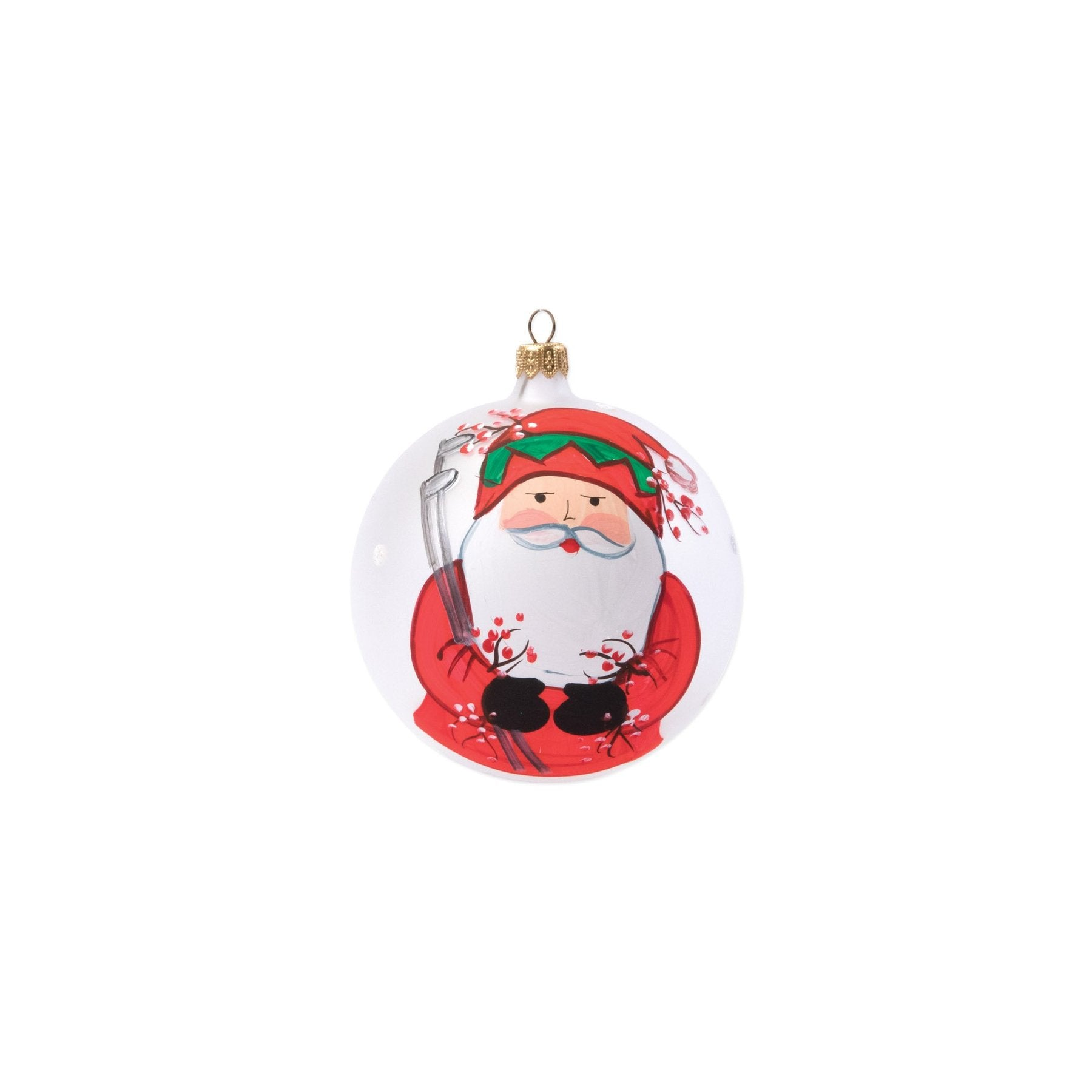 Old St Nick Golfing Ornament