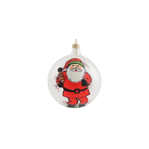 Old St Nick Football Ornament