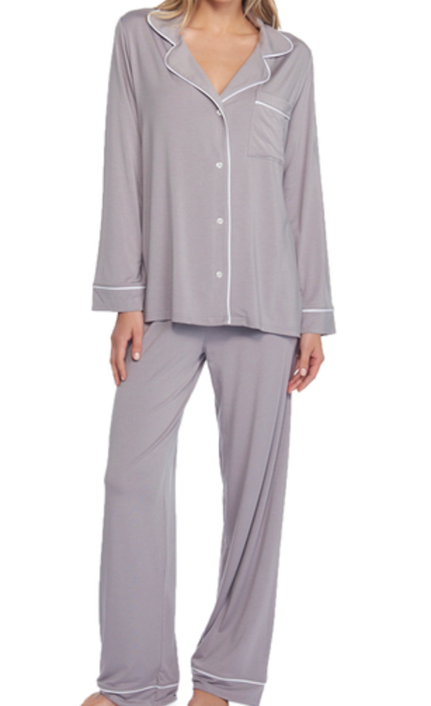 Piped Pajama Set