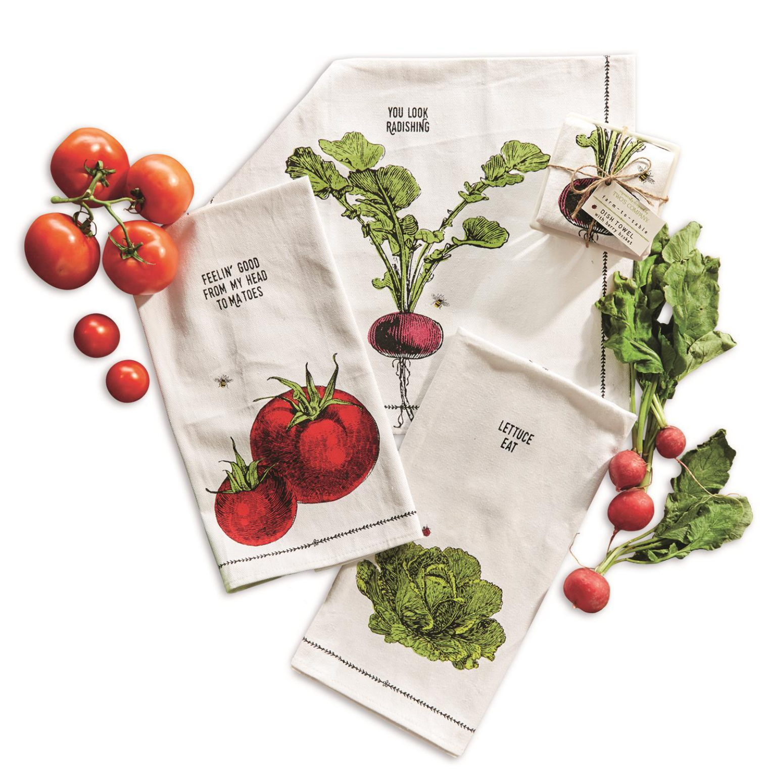 Dish Towel with Berry Bowl