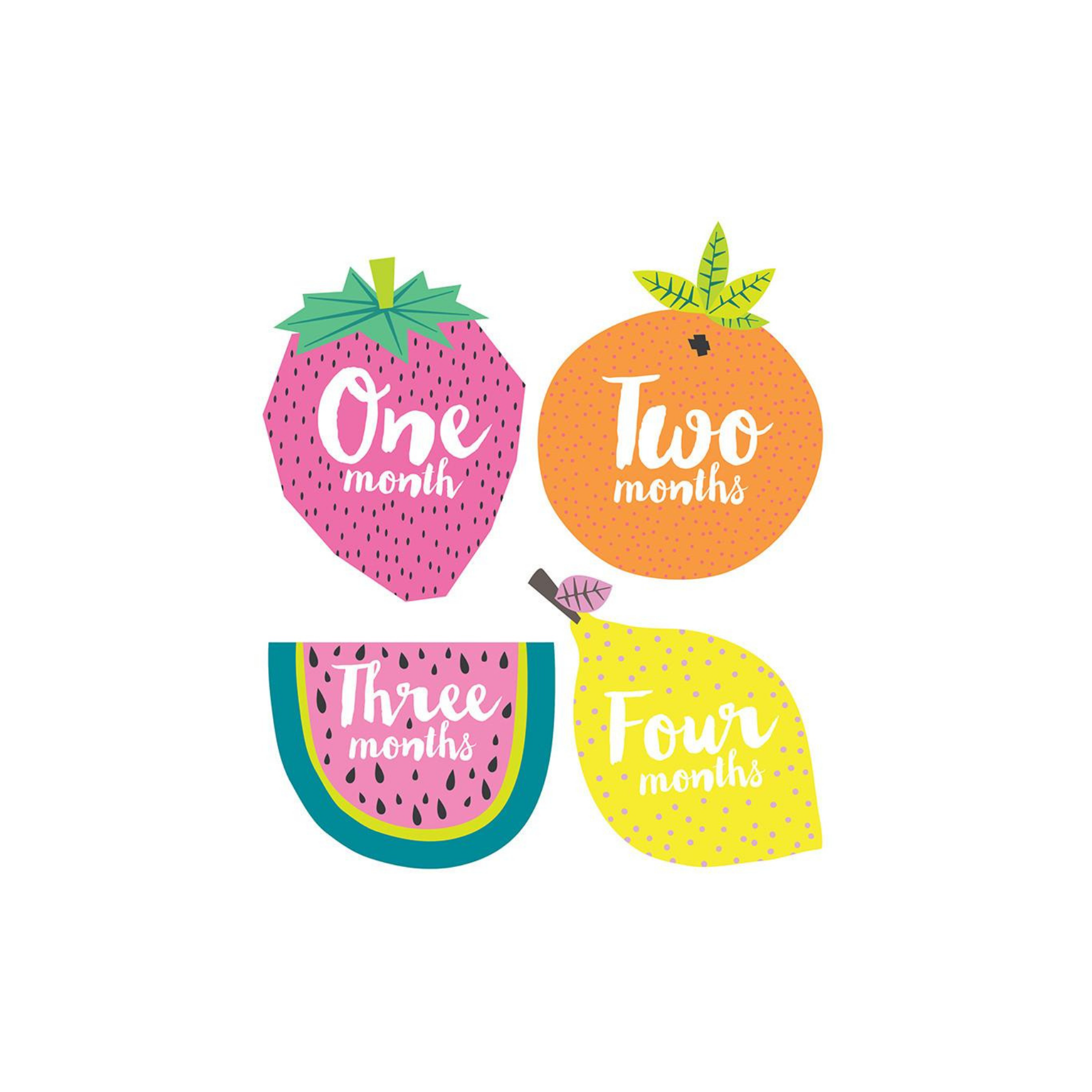 Little Tutti Frutti Monthly Sticker