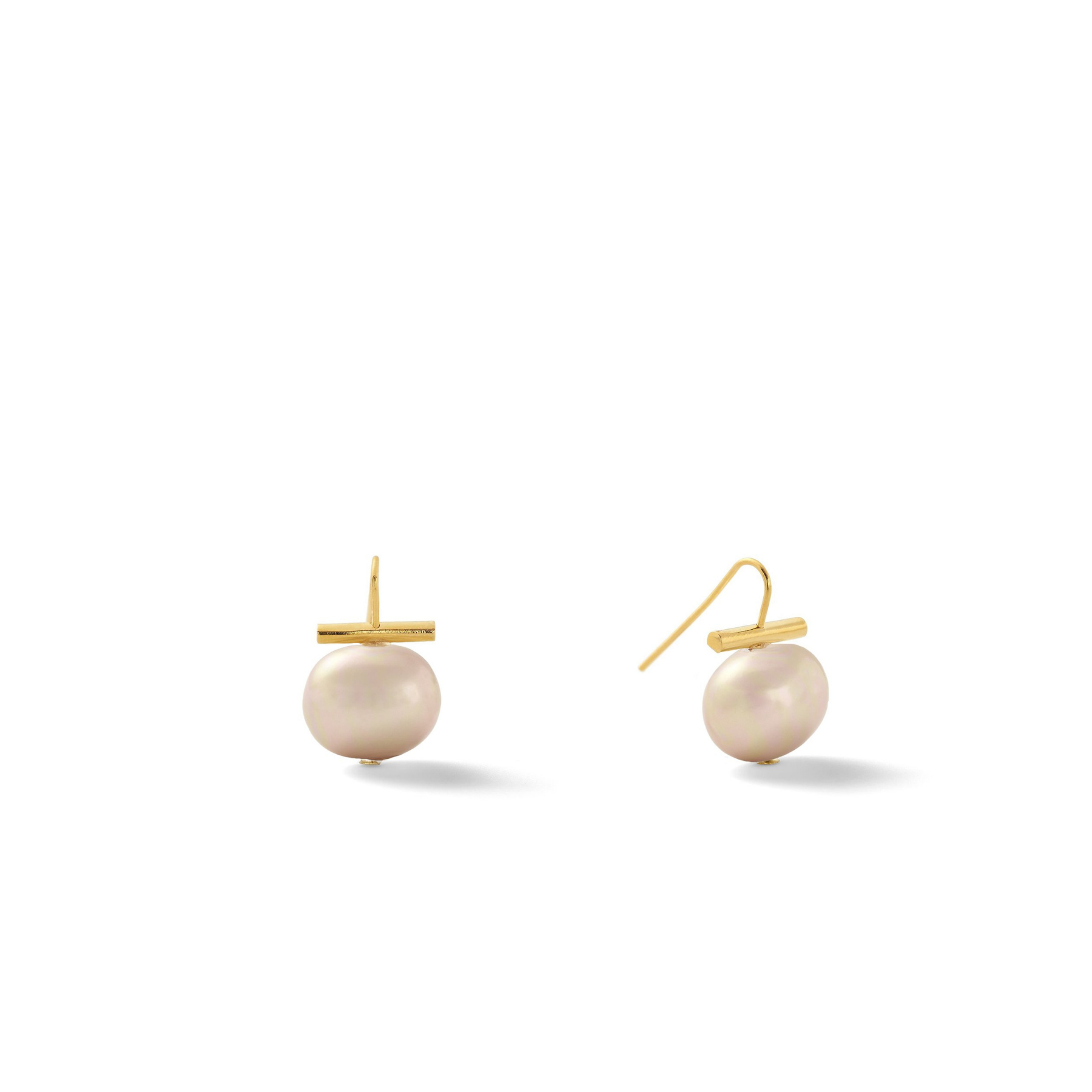 Classic Medium Pebble Pearl Earrings