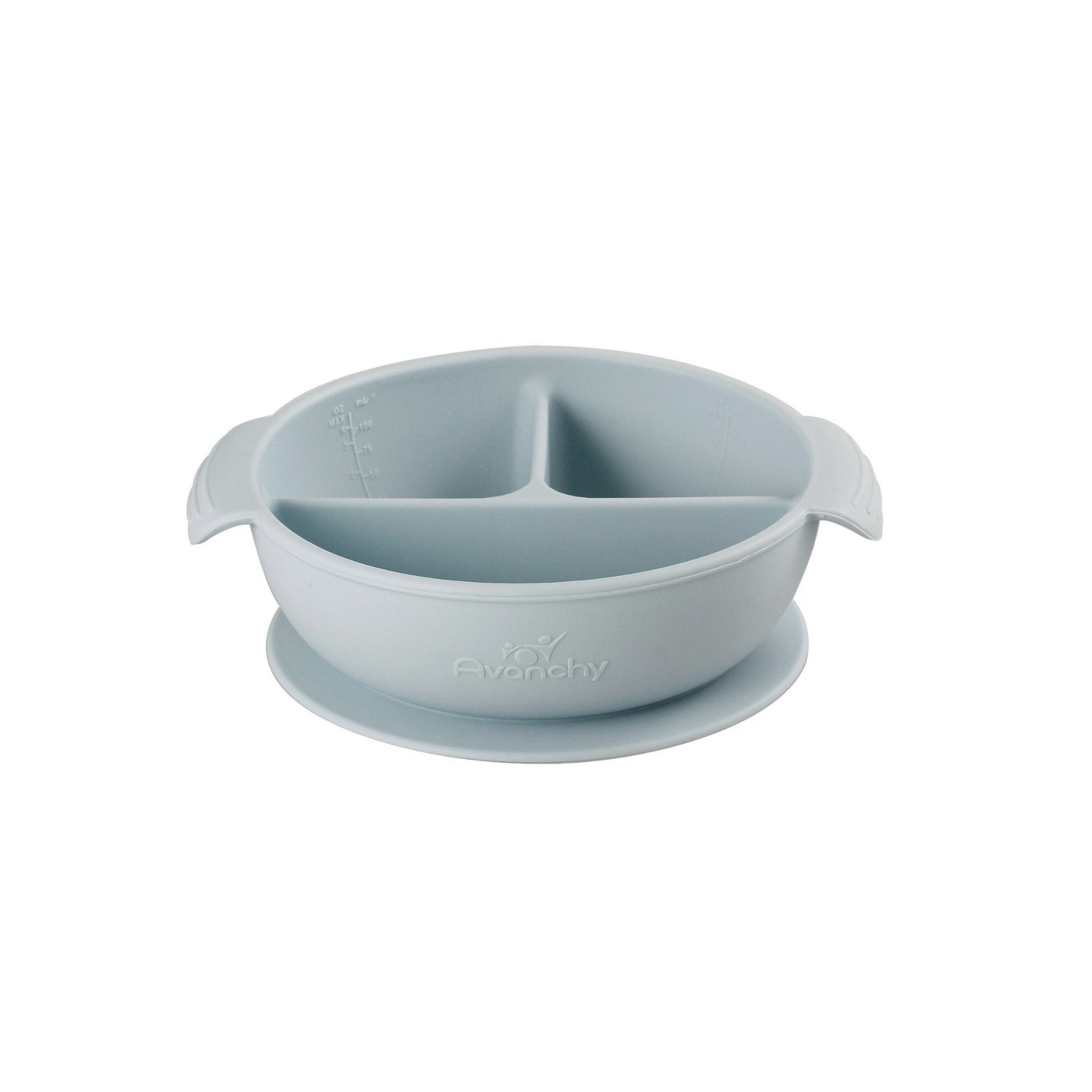Silicone Suction Divided Baby Bowl + Lid