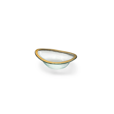 Roman Antique Sauce Bowl with Gold Band