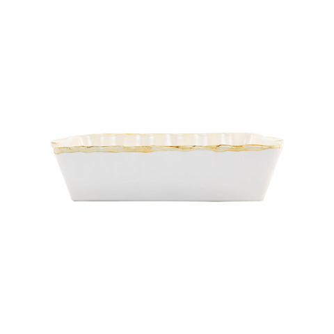 Italian Bakers White Large Rectangular Baker