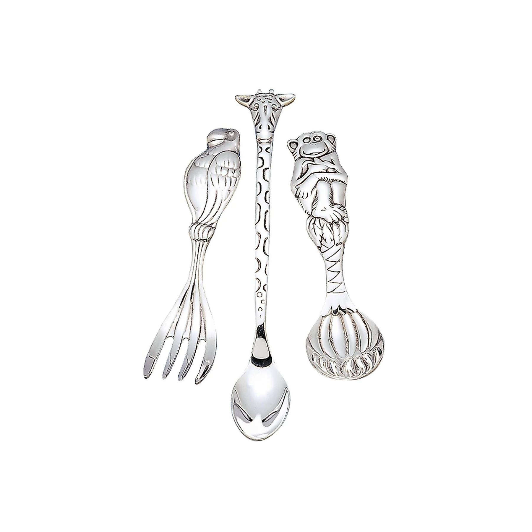 Silver Safari Silverplate 3-piece Baby Flatware Set