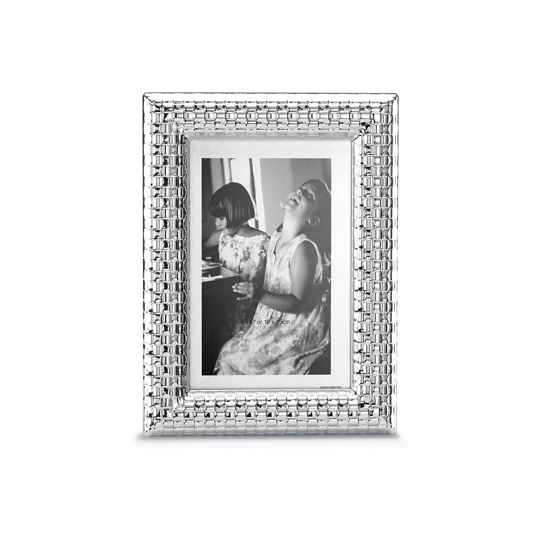 "Watchband Silver 4"" x 6"" Photo Frame"