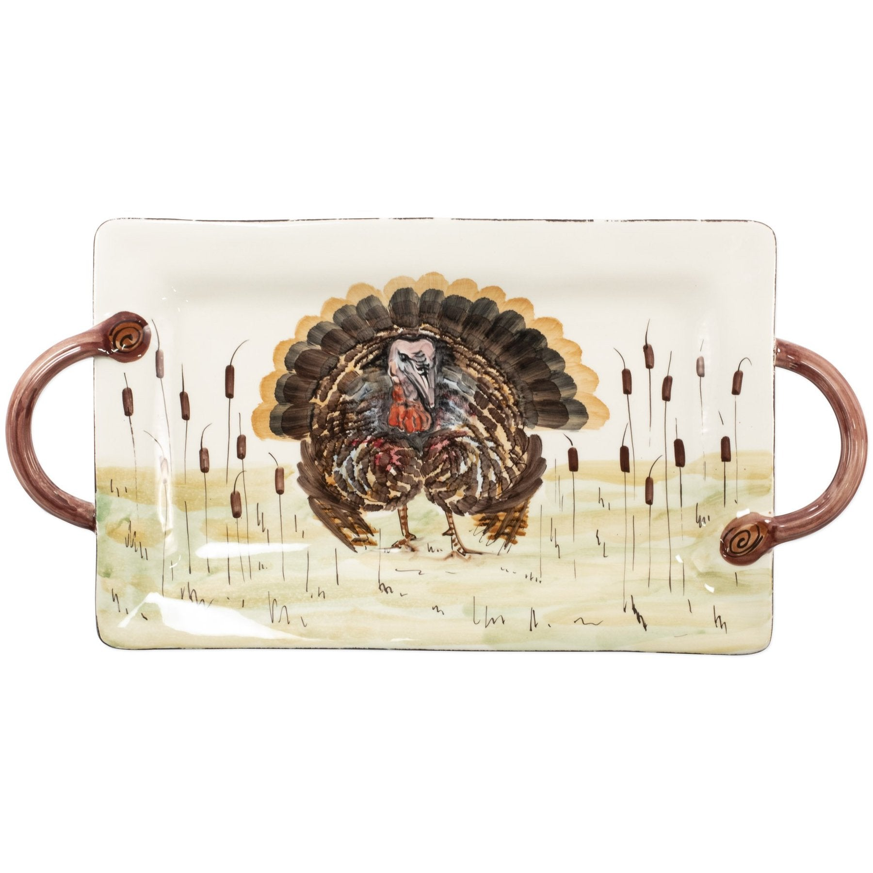 Turkey Rectangle Handle Platter