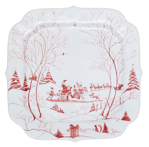 Country Estate Santa's Cookie Tray