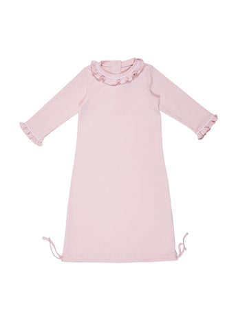 Girls Daygown Light Pink with White