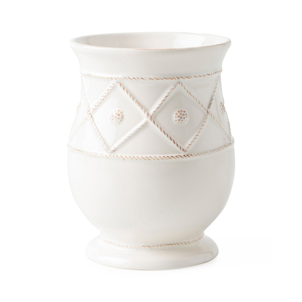Berry & Thread Whitewash Utensil Crock