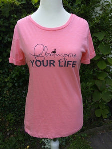 "Princess Elsa T-Shirt ""Flamongorize your Life"" in rosa"