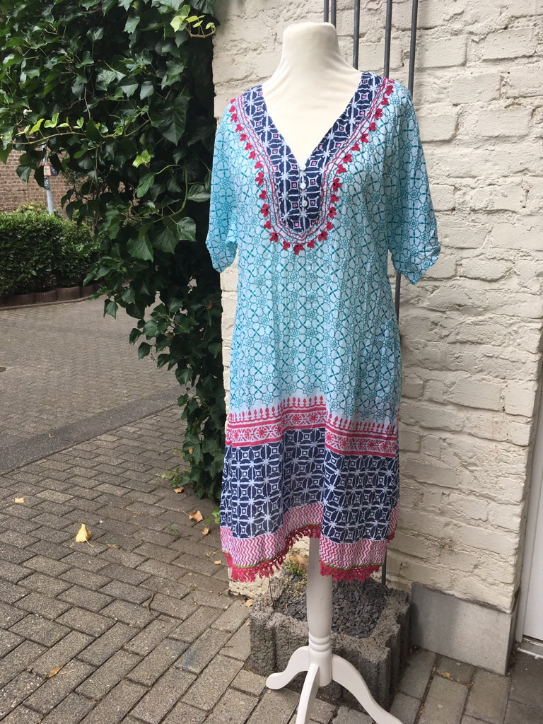 LULALIFE Kleid Rambagh Dress Sea