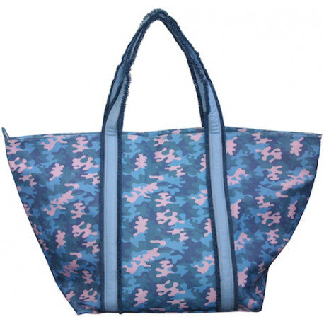 """ cute stuff Tasche Shopper Camouflage Blau """