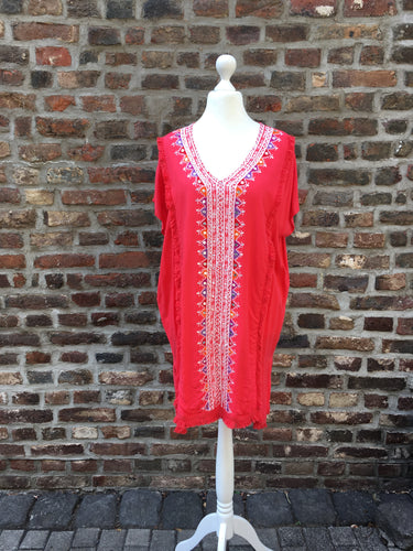 Tunika / Strandkleid Florida rot