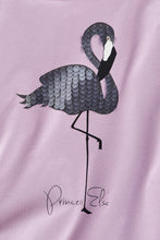 Laden Sie das Bild in den Galerie-Viewer, Princess Elsa Shirt mit Paillettenflamingo - langarm
