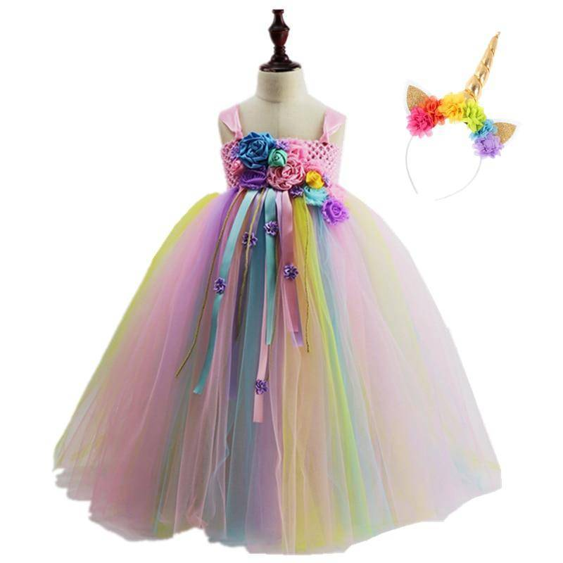 bcfabdb330 Pastel Passion Rainbow Floral Dress - Your Princess Dresses Store - Your Princess  Dresses ...