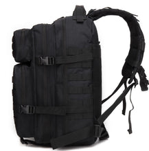 Load image into Gallery viewer, 45 litre black tactical backpack