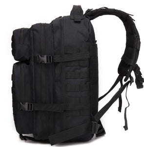 45 litre black tactical backpack