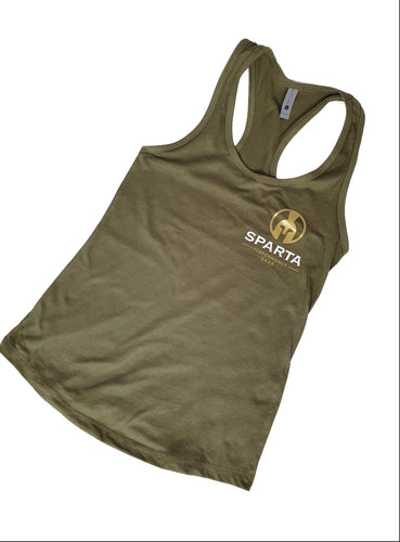 Army Green Classic Ladies Racer Back Vest Top