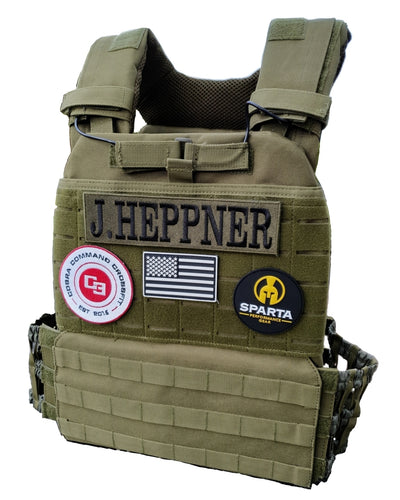 Army green tactical vest plate carrier